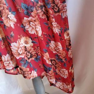 torrid Tops - Torrid Lexie red floral tunic